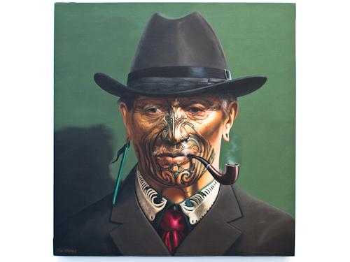 The Smoking Tohunga - Paul Jackson, oil on linen, 2009.